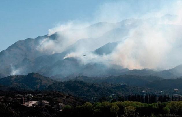 Incendio forestal descontrolado — San Luís