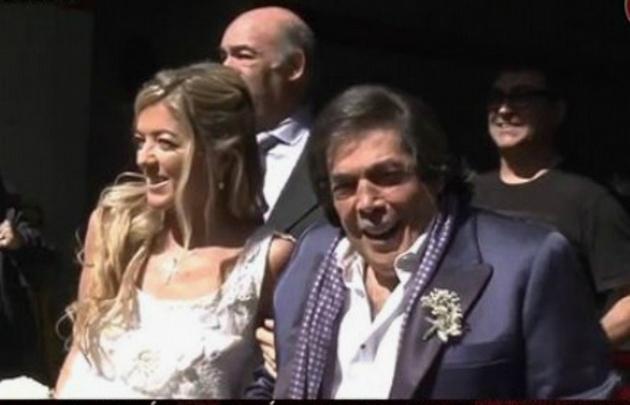 A los 74 años, Cacho Castaña se casa por tercera vez