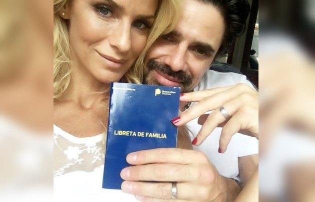 Se casaron Luciano Castro y Sabrina Rojas