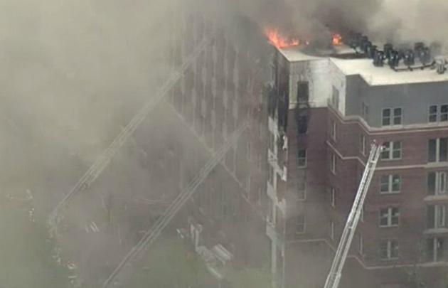 Incendio en un complejo de departamentos en Maryland, Estados Unidos