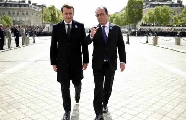Así festejó Francia el triunfo de Macron