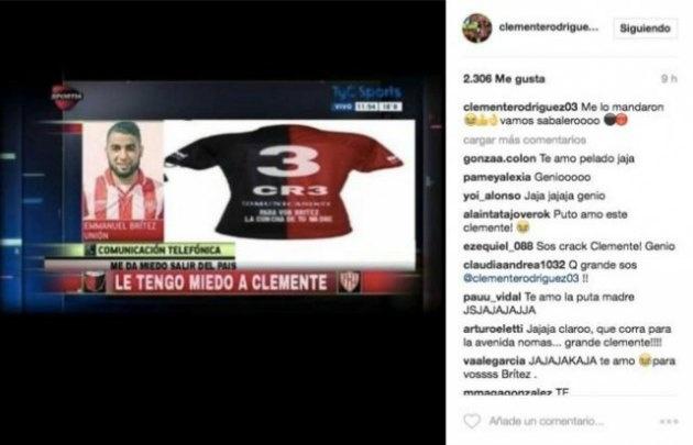 Clemente Rodríguez atacó a Brítez en las redes sociales