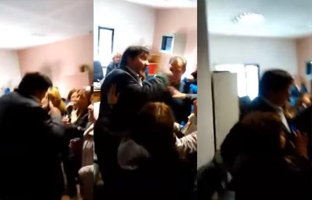Detuvieron al funcionario que agredió a jubiladas y sus abogadas