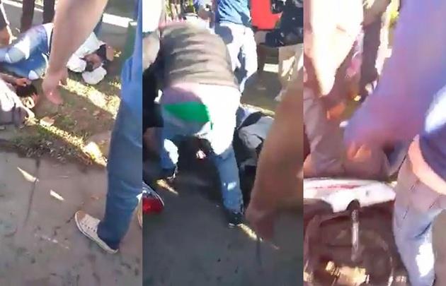Feroz intento de linchamiento a dos motochorros — Tucumán