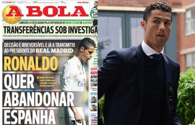 Cristiano Ronaldo piensa abandonar al Real Madrid