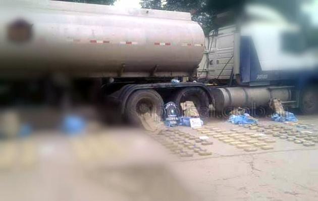 Hallaron 3 toneladas de marihuana ocultos en un camión cisterna