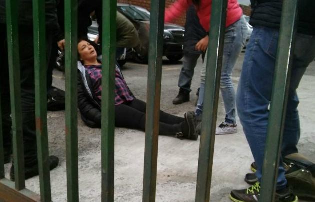 Manifestantes y la Policía se enfrentan en avenida 9 de Julio