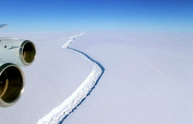 Se desprende de la Antártida el mayor iceberg de la historia