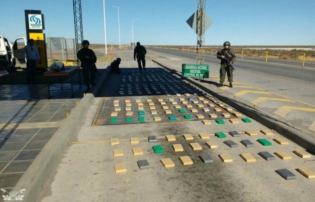 Gendarmería secuestró 250 kilos de cocaína en Las Salinas