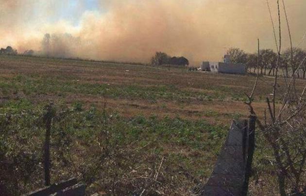 Impactantes imágenes de un incendio en las sierras de Córdoba