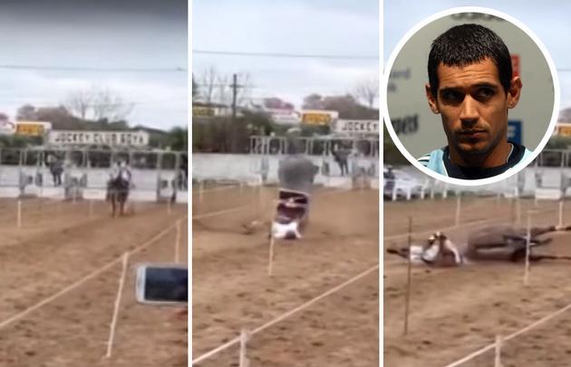 La yegua de Pepe Sand largó, se desplomó y murió
