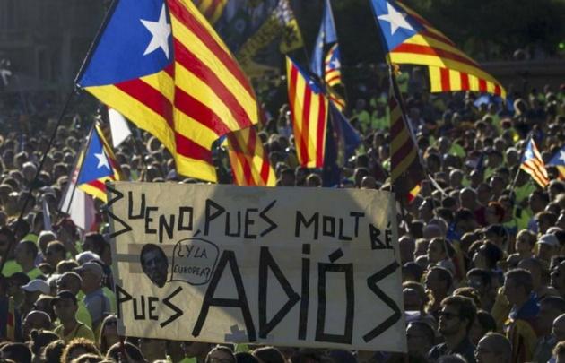 Cientos de miles marchan por la independencia de Cataluña