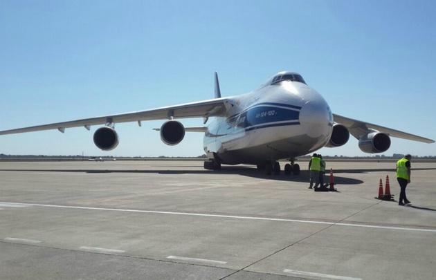 Llegó a Córdoba uno de los aviones más grandes del mundo