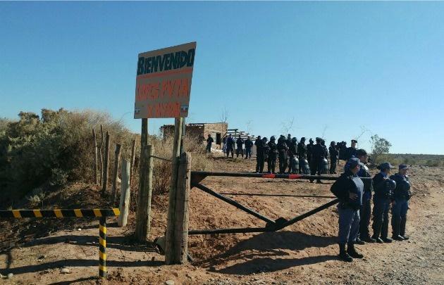Desalojaron a grupo mapuche en los campos de Vaca Muerta