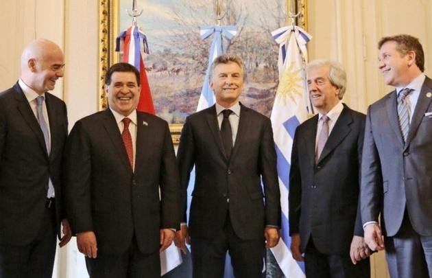 Argentina, Paraguay y Uruguay oficializan la candidatura para el Mundial 2030
