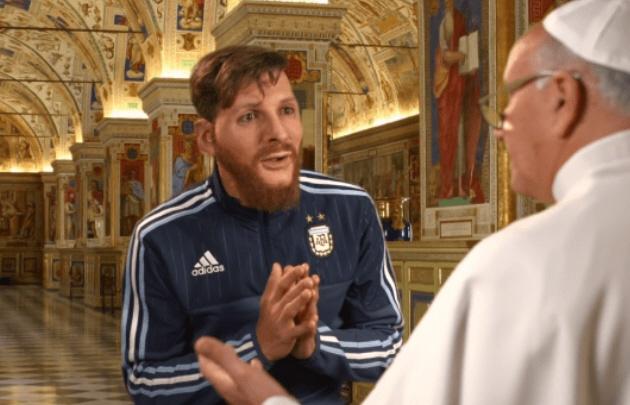 Messi le pide un milagro al Papa