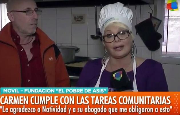 Carmen Barbieri ya realiza las tareas comunitarias: