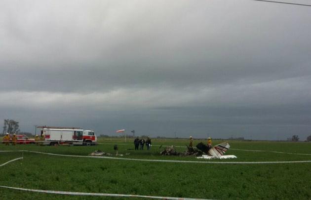 Avioneta cortó cables y se estrelló en Tacural