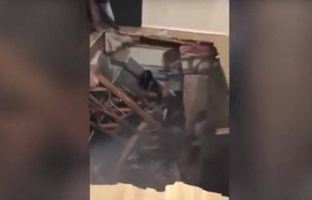 Colapsa piso durante una fiesta en Texas — Aterrador