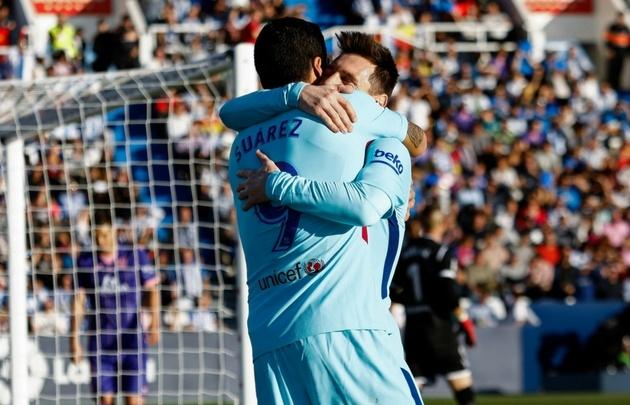 Barcelona vence al Leganés 3-0 con dos de Luis Suárez