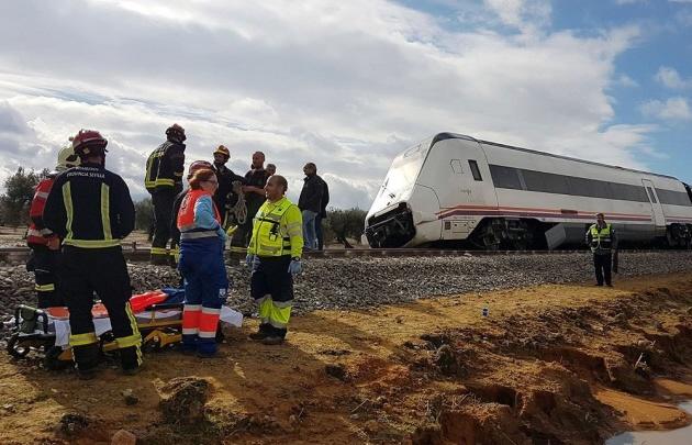 Accidente de tren deja varios heridos en España