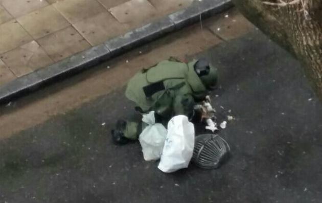 Hallaron 2 bombas caseras frente al Departamento Central de Policía