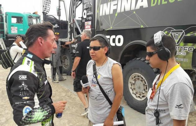 Federico Villagra está tercero en camiones al finalizar la segunda etapa