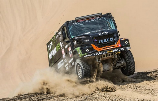 El camión de Villagra quedó segundo en la tabla general