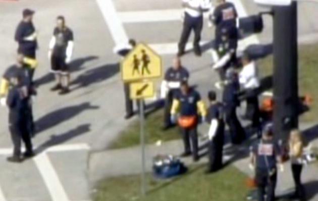 Los alumnos fueron evacuados de la escuelaEEUU tiroteo en una escuela en FloridaEEUU tiroteo en una escuela en Florida