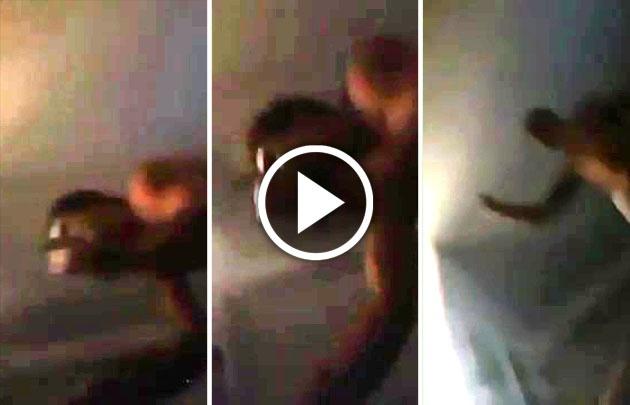 Tremendo: Filmó a su novio rugbier mientras la golpeaba